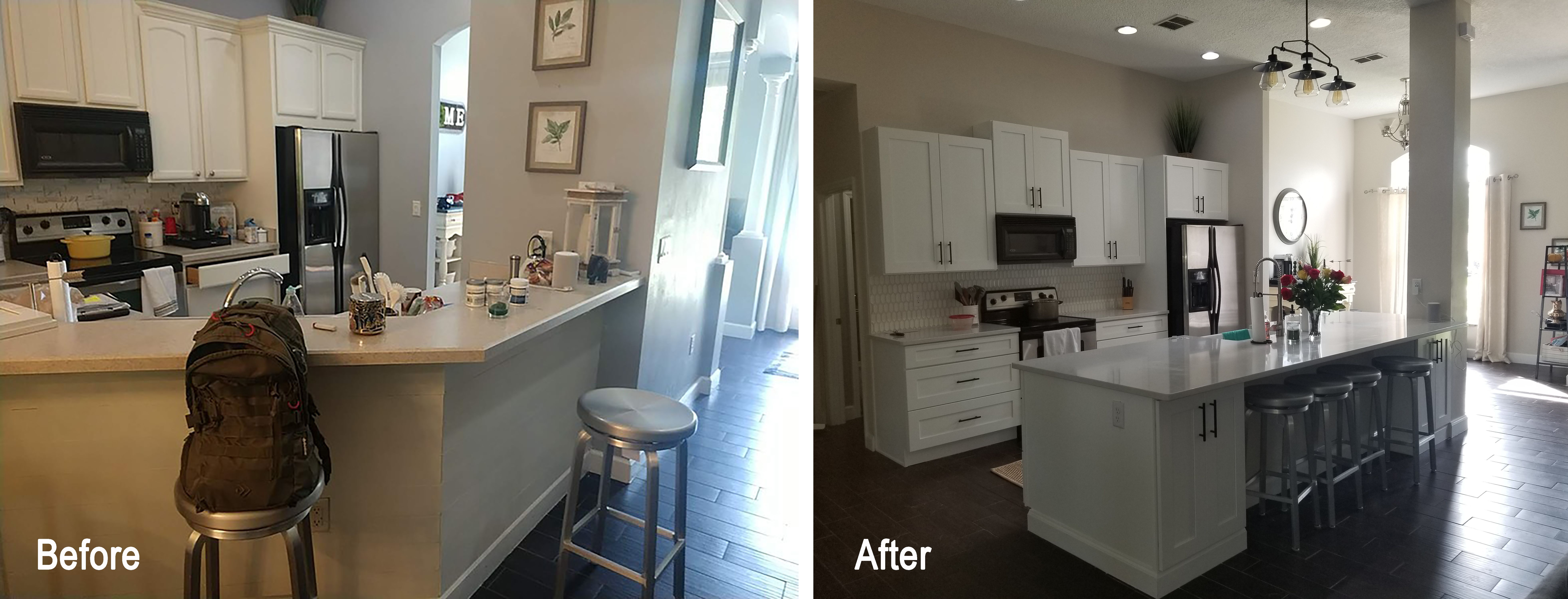 Check out this beautiful kitchen remodeling project we