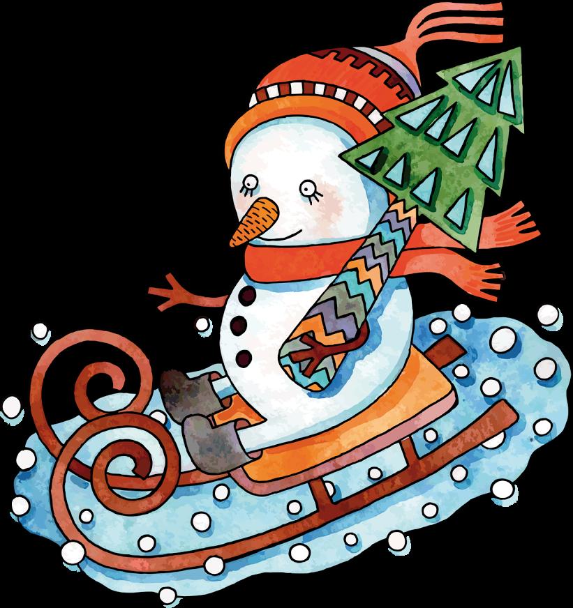 Varieté de Láminas para Decoupage Christmas cartoons