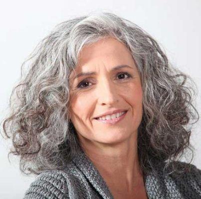 16 straight thick grey haircut  grey curly hair long