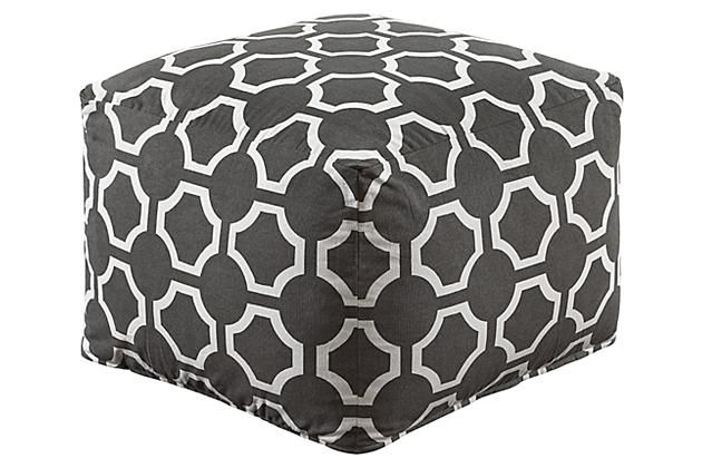 Ashley Geometric Pouf A1000424 Ashleyfurniture