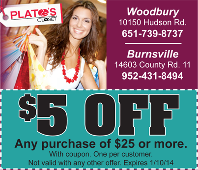 Get 5 Off At Plato S Closet Woodbury Mn With This Deal Buylocal Http Www Gobuylocal Com Offerseo Woodbury Mn Plato Woodbury Holiday Savings Burnsville