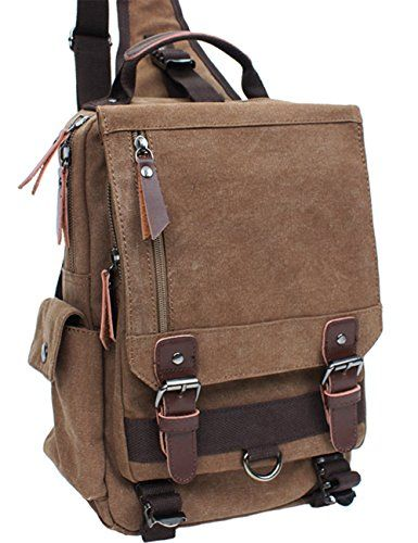 986b0d7c8be Mygreen Sling Canvas Cross Body 13inch Laptop Messenger Bag Shoulder  Backpack    Find out more about the great product at the image link.