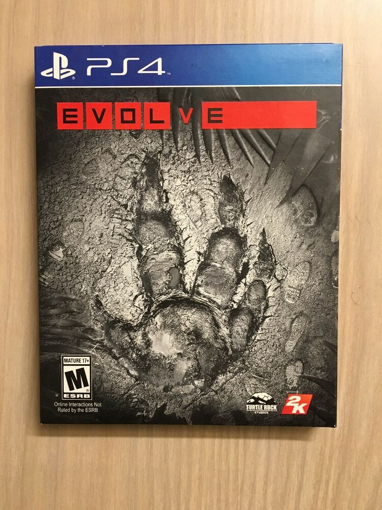 PS4 Playstation 4 Evolve case & game disc tested