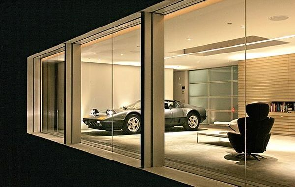 Luxurious Wooden Car Garage of Deluxe Design: Fabulous Classic ...