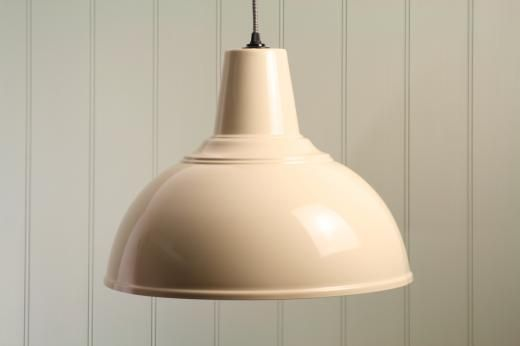 2ec72304f38 Extra Large Cream Enamel Kitchen Pendant Light - Cream White - £59.99 - The  Contemporary Home Online Shop