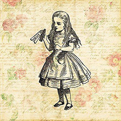 Alice in Wonderland Drink Me Print from an Antique Illustration ...