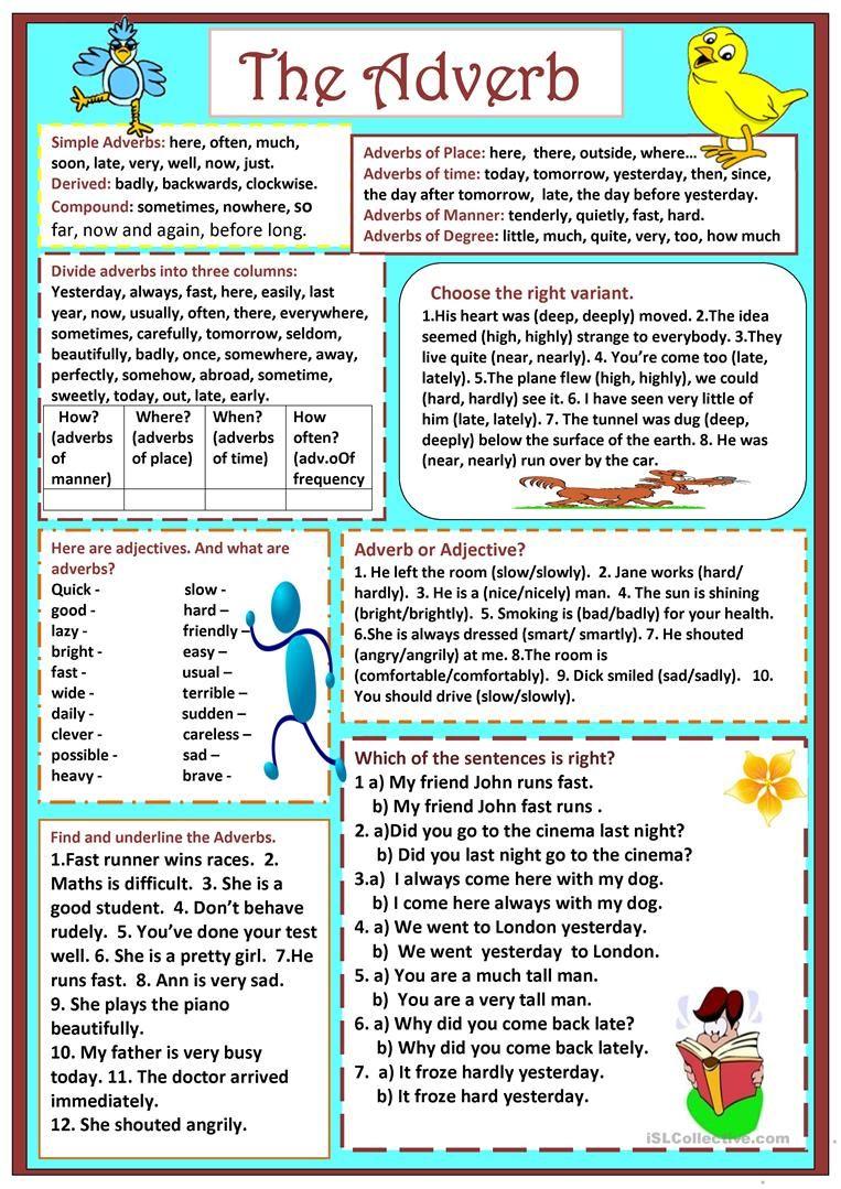 Adverbs worksheet Free ESL printable worksheets made by