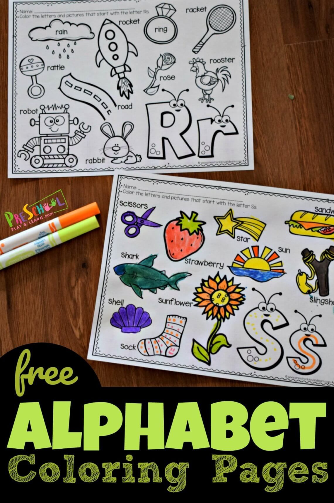 Cute Alphabet Coloring Pages