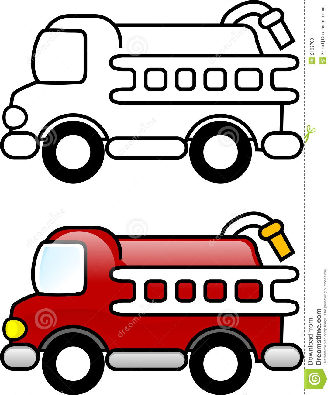 Preschool Fire Truck Coloring Pages Children Truck