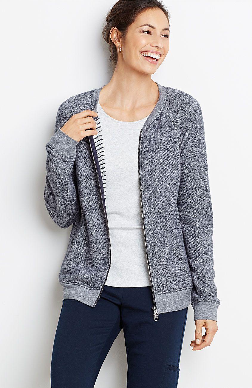 plus size zip-front sweatshirt jacket from J.Jill $89 | Jjill ...