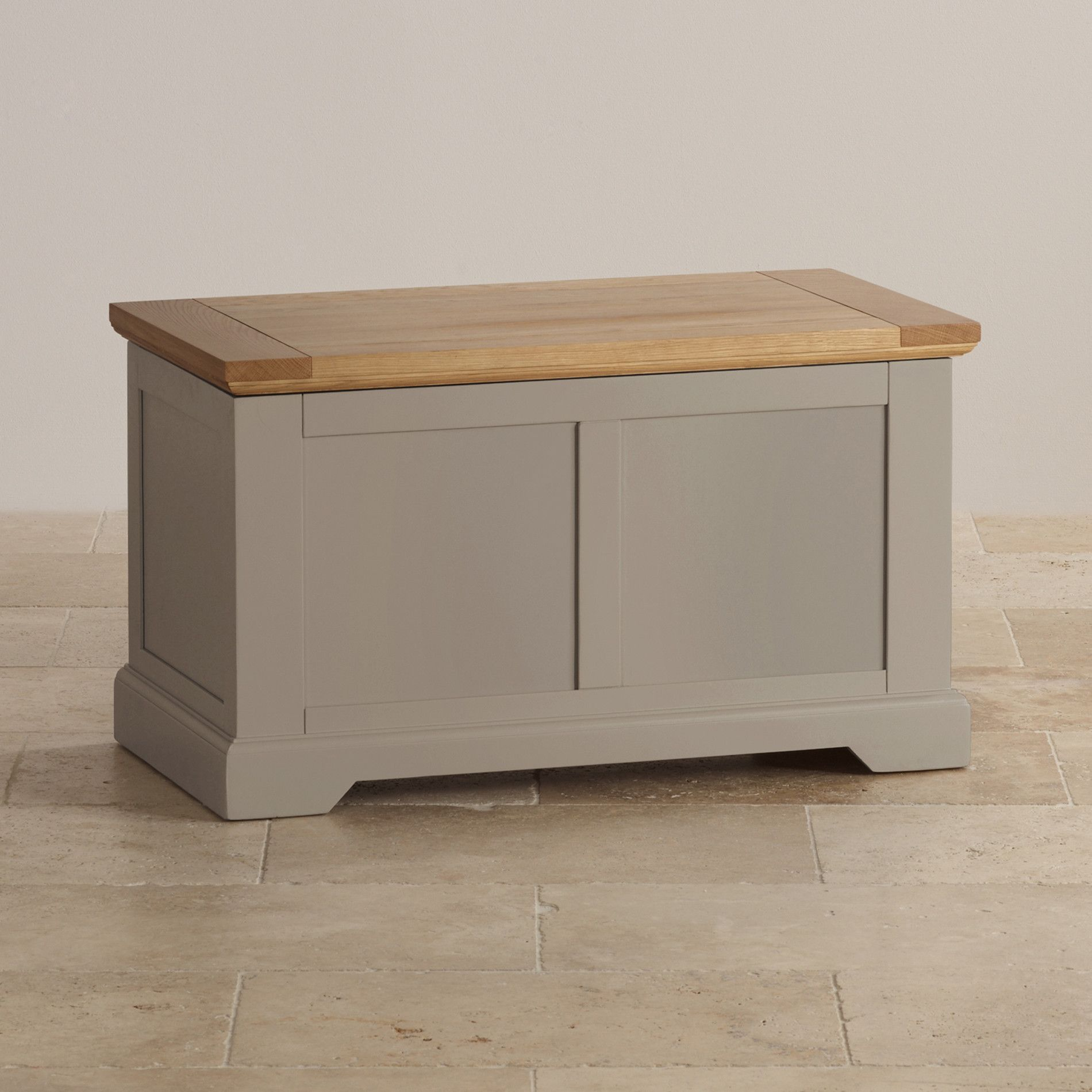 St Ives Natural Oak And Light Grey Painted Blanket Box Grey Painted Furniture Grey Furniture Painted Blanket Box