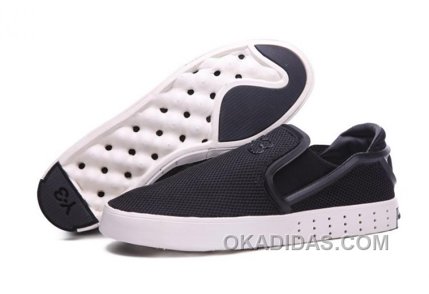 on Sale Men's Adidas Y-3 Laver Slip On Shoes Black/White Online B35664