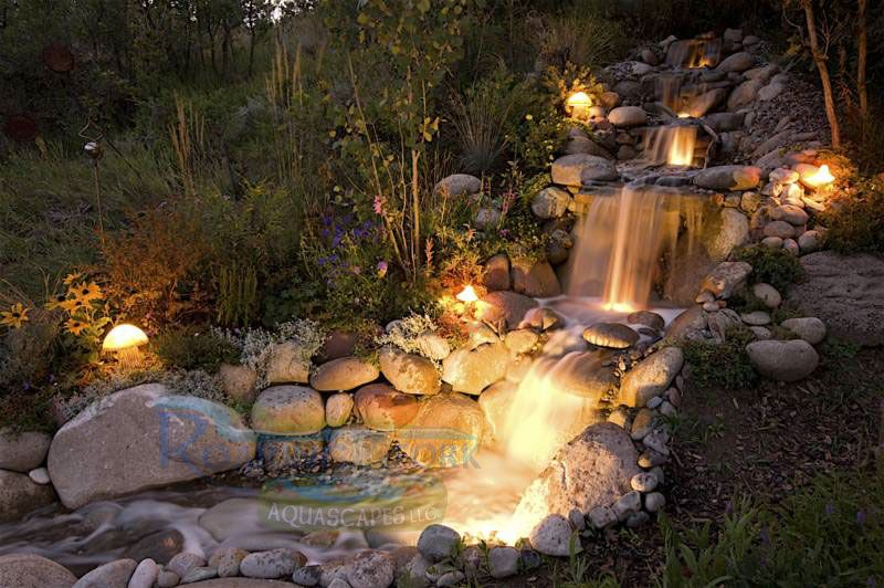 Pondless Waterfall Love The Lighting G Water Features Pinterest Water Features