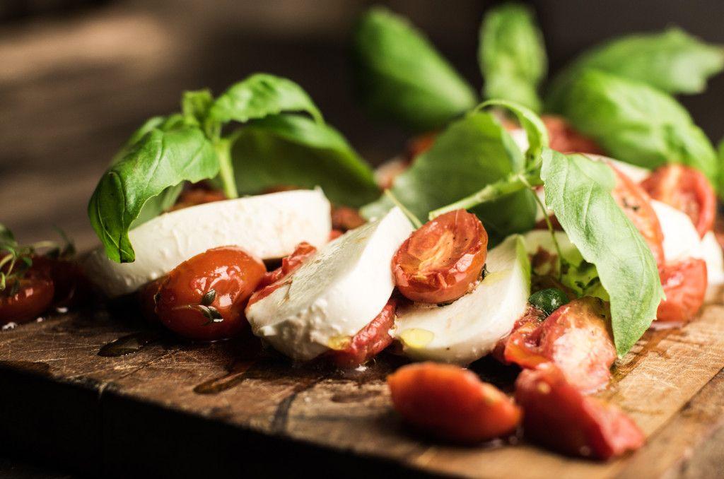 Uunikuivattu tomaatti - mozarella