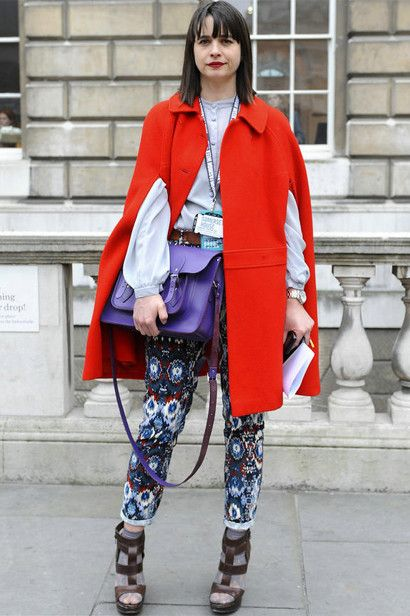 Bright color street style
