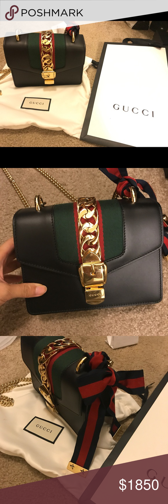 Gucci Sylvie leather mini chain bag I bought this bag a month ago at Las  Vegas ff96e0b9ad923