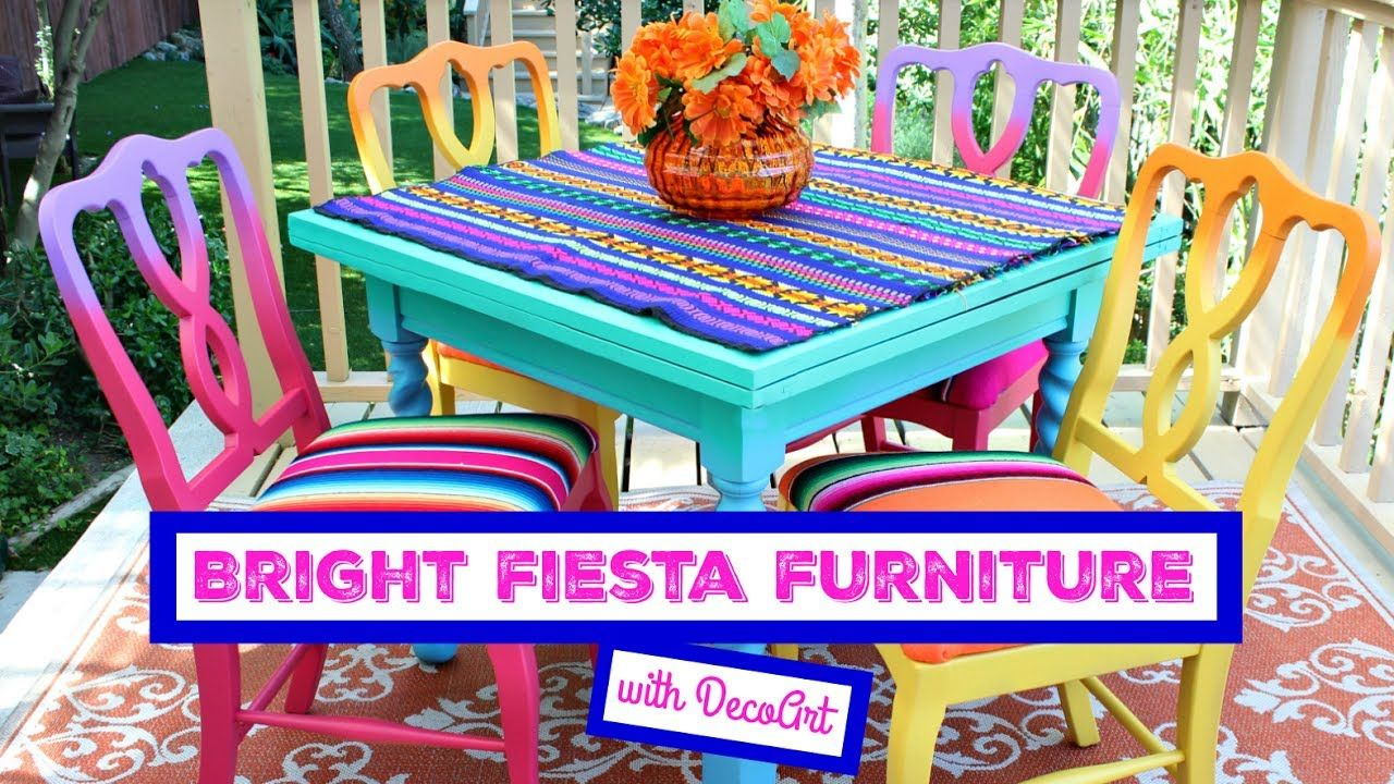 HOW TO: Bright Fiesta Furniture   FURNITURE MAKEOVER   Pinterest