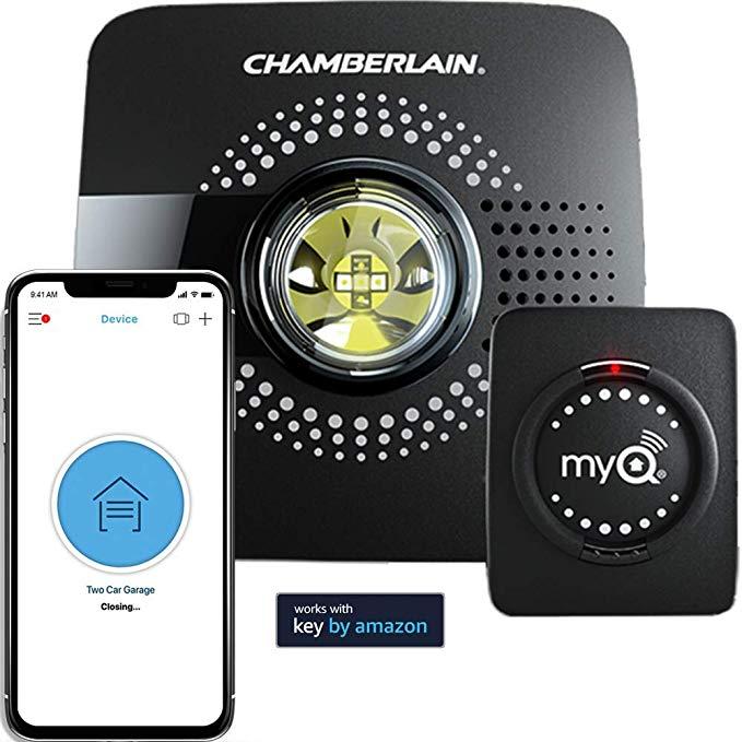 Myq Smart Garage Door Opener Chamberlain Myq G0301 Wireless Wi Fi Enabled Garage Hub With Smartphone Control Amazon Com Smart Garage Door Opener Garage Doors Garage Door Opener
