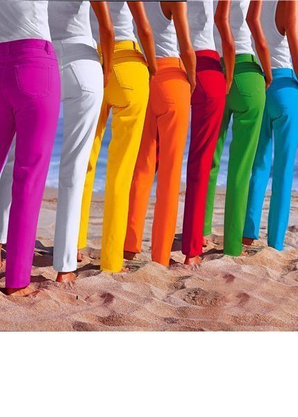 Colored pants for women. OH MY!!!! I would wear every single pair!!!!!!!!!!