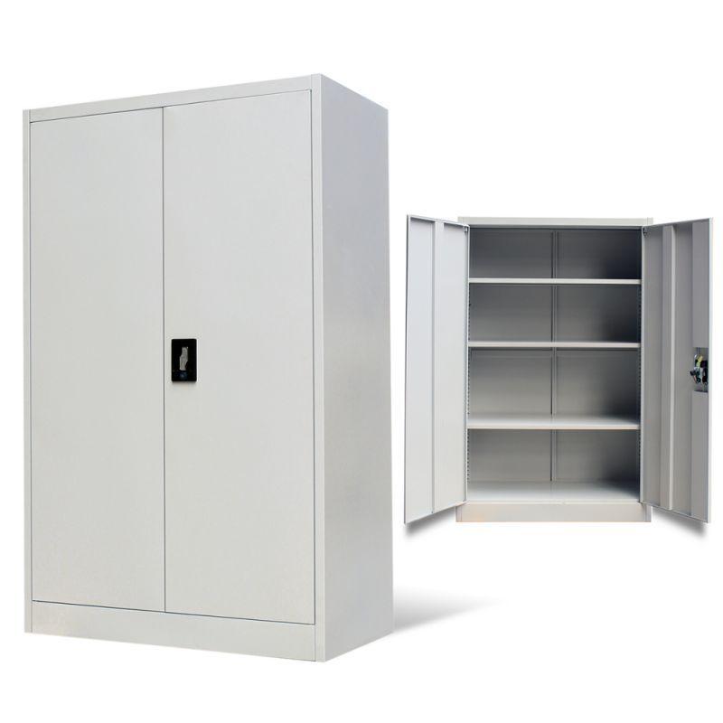 Vidaxl Office Cabinet With 2 Doors Steel Storage Cupboard