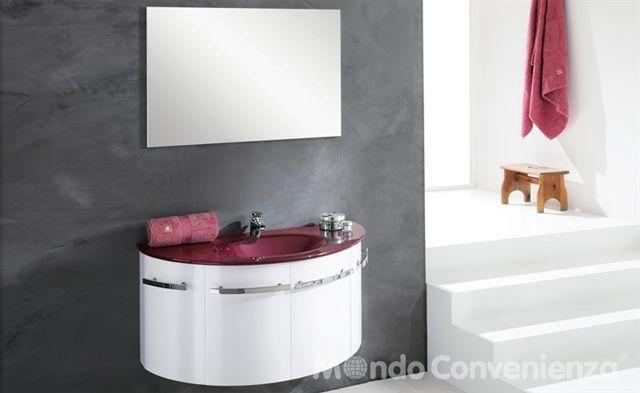 Il colore dark grey, il lavabo in vetro e il coordinato specchio e colonna sono elementi che rendono l'arredo bagno elegant davvero impeccabile. Moderno Sospesa Mondo Convenienza Arredamento Bagno Arredamento Bagno
