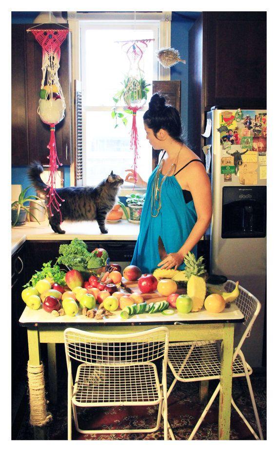 ooh, cats like macrame too!  Macrame Plant Hanger by SlowDownProductions on Etsy