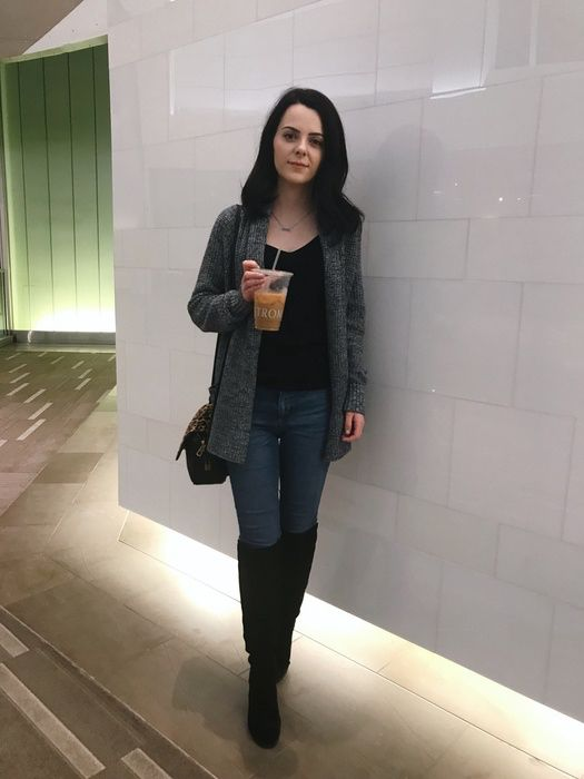 Anyone else obsessed with Nordstrom coffee? I always get a Vanilla iced coffee with almond milk or a mocha iced coffee with almond milk! #ShopStyle #ssCollective #MyShopStyle