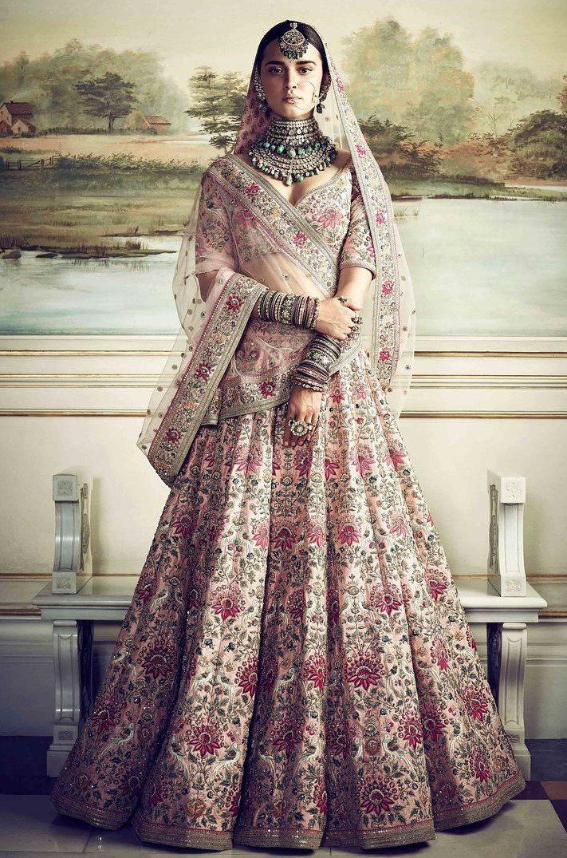 Dusty Pink Color Wedding Lehenga Inspired by Anushka ...
