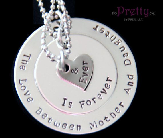 Valentines Day GiftGrandma Mother Daughter Necklace SetThree