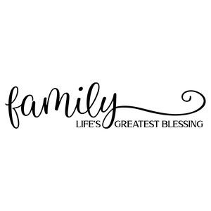 Download family life's greatest blessing | Shirt print design, Sign ...