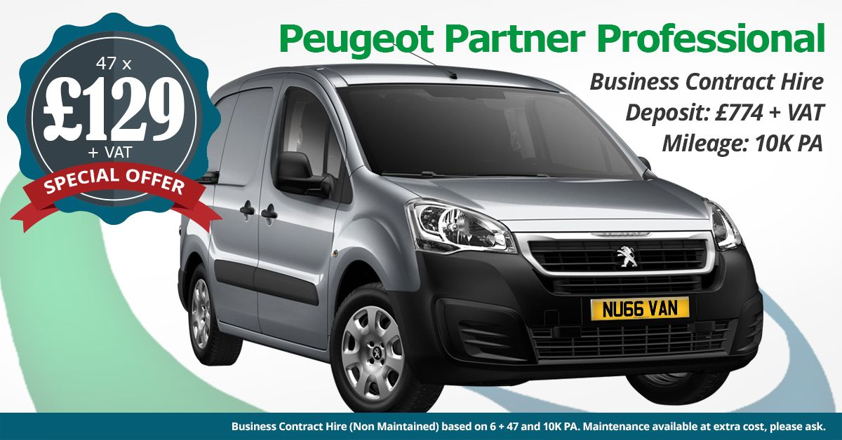 Peugeot Partner Professional Promotion just £129 + VAT on Business - business contract