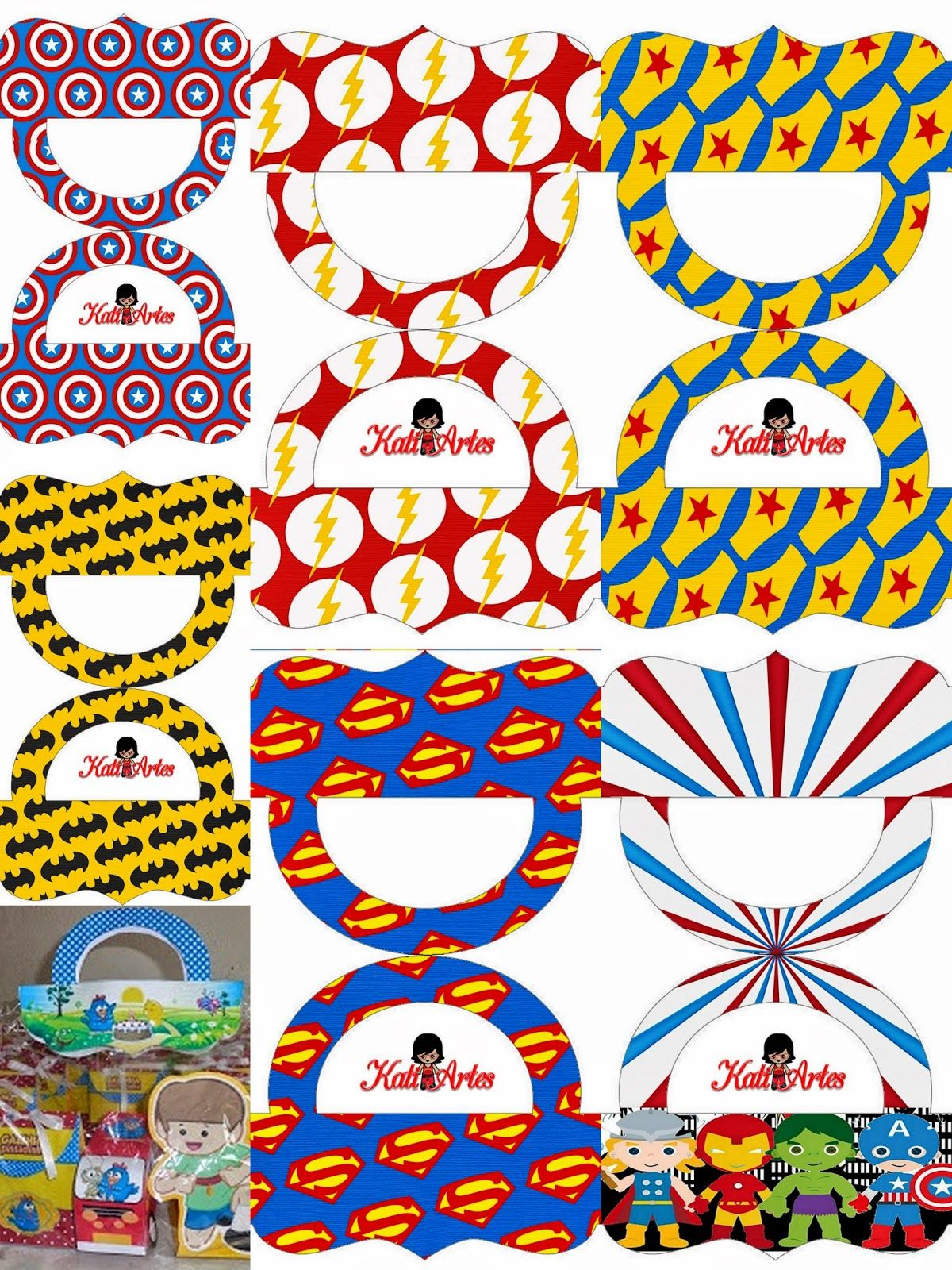 Oh My Fiesta For Geeks Superheroes Pretty Candy Bag Free Printable Toppers Pretty Candy Superhero Superhero Party