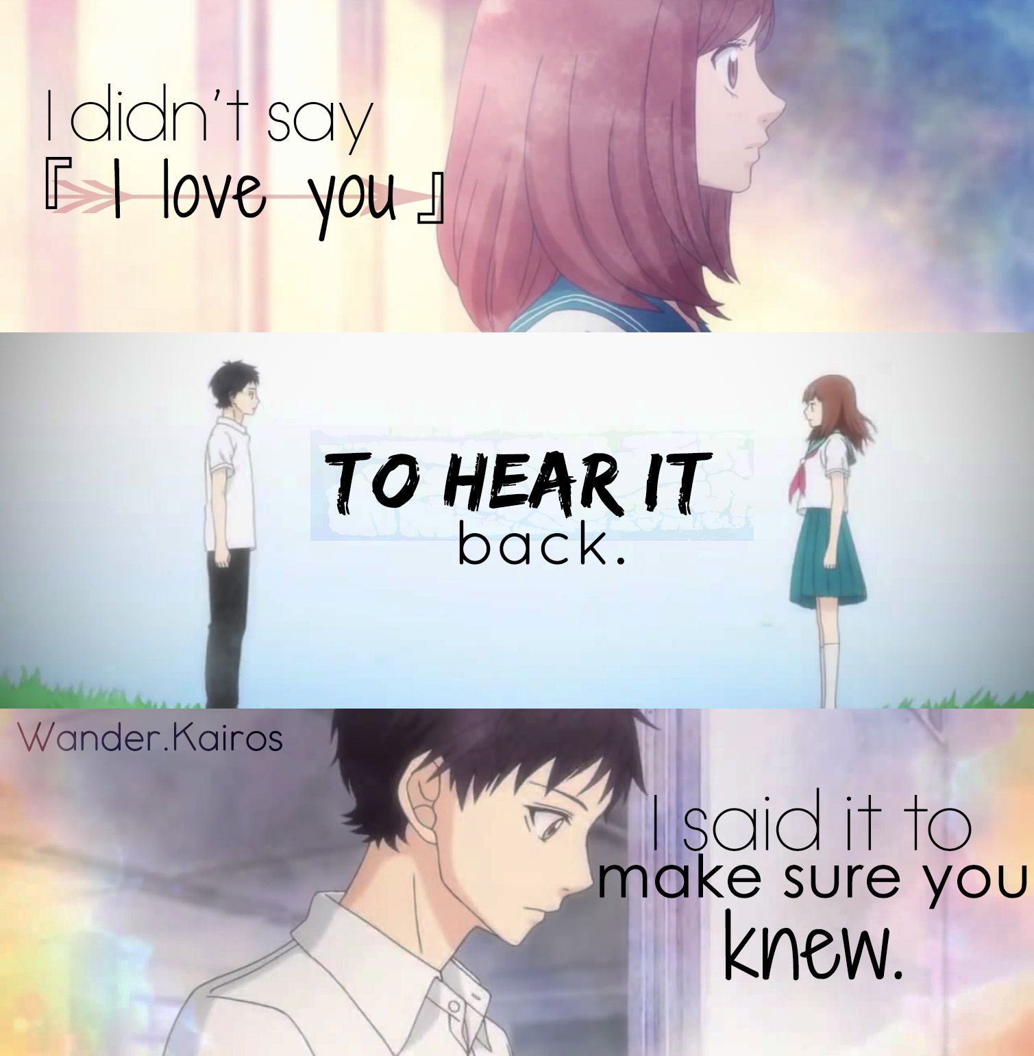 Love Anime Quotes Anime Quotes  Wanderkairos  My Shiz Edits  Anime Feelsquotes