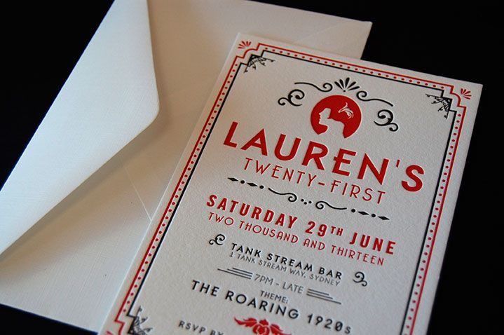 Letterpress birthday invitations australia invitationjpg roaring twenties 21st letterpress designed and printed by little filmwisefo