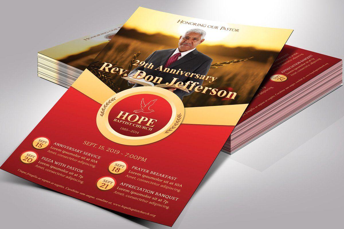 Pastor Anniversary Flyer Word