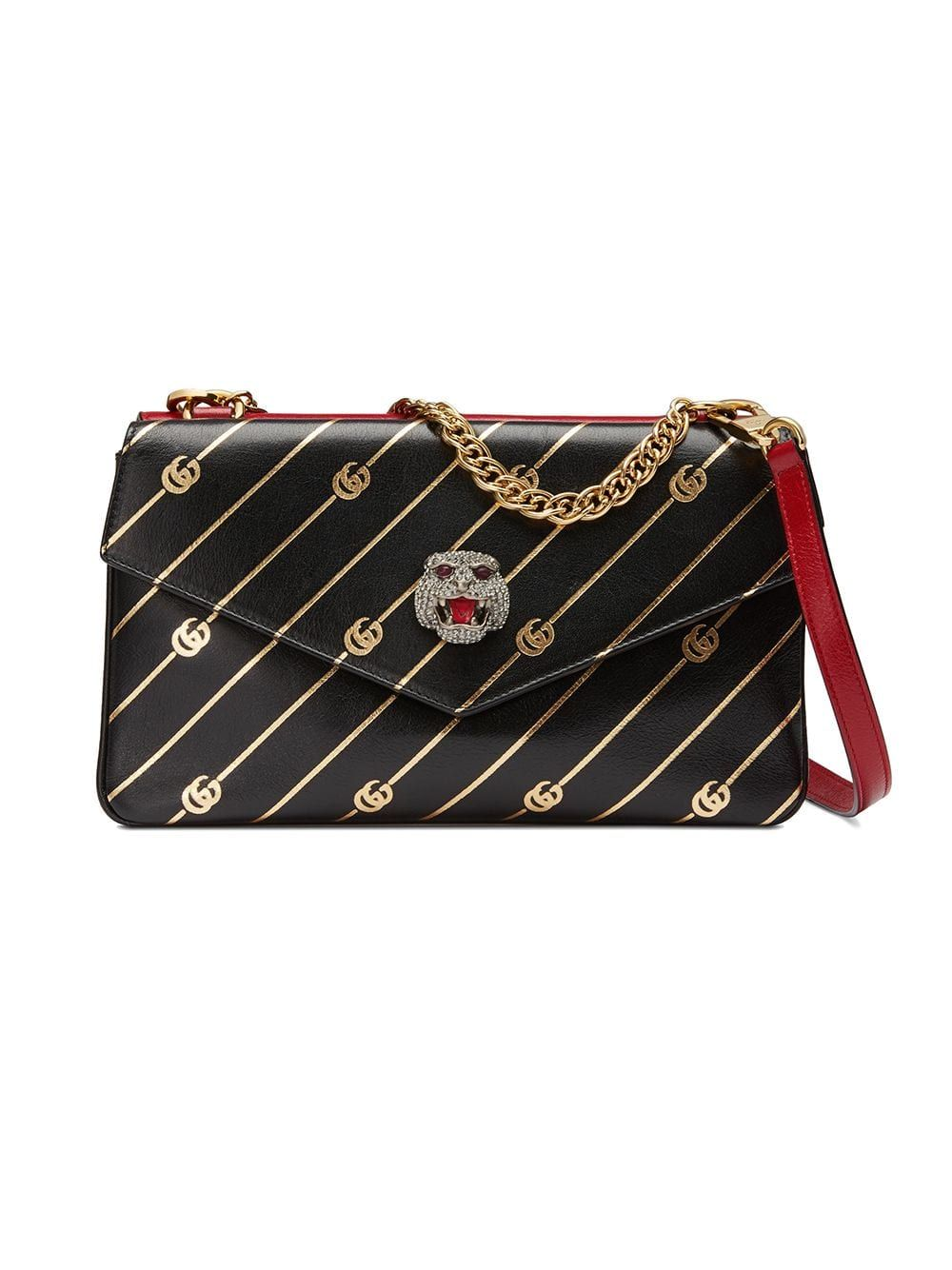 5a47458e5 Gucci Medium double shoulder bag - Black in 2019 | Products | Bags ...