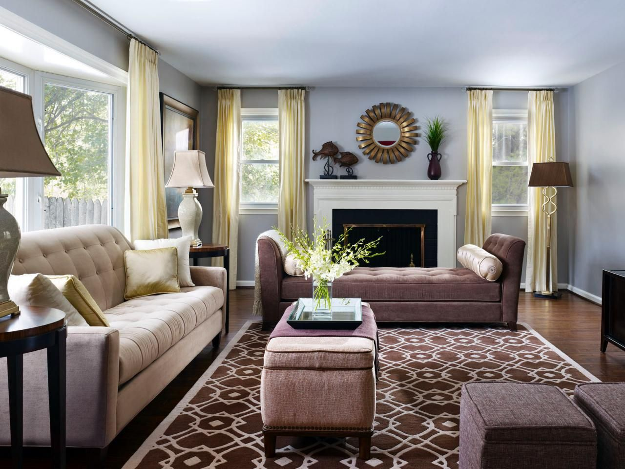 Transitional Living Room With Neutral Furnishings Living Room Design Styles Living Room Style Transitional Living Rooms #neutral #transitional #living #room