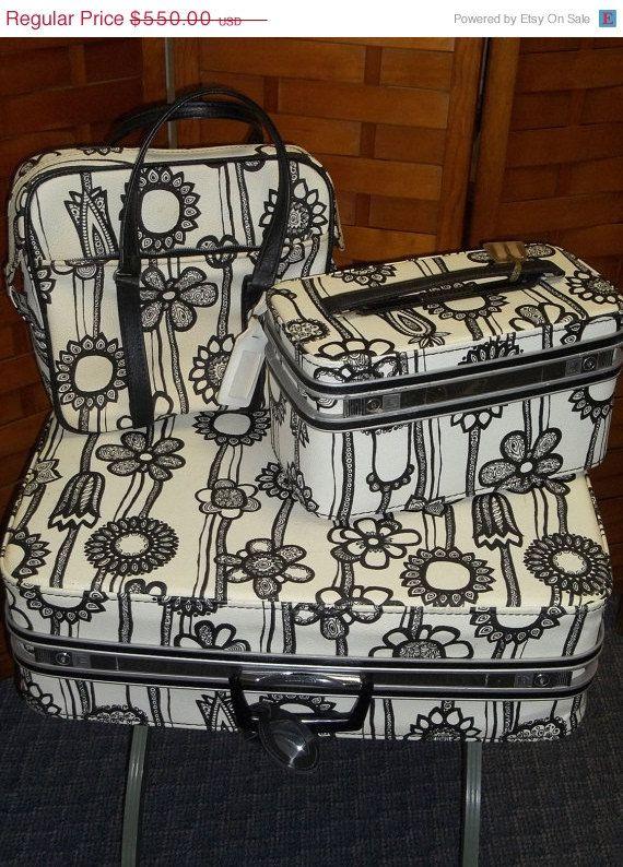 Marimekko luggage from the 60's