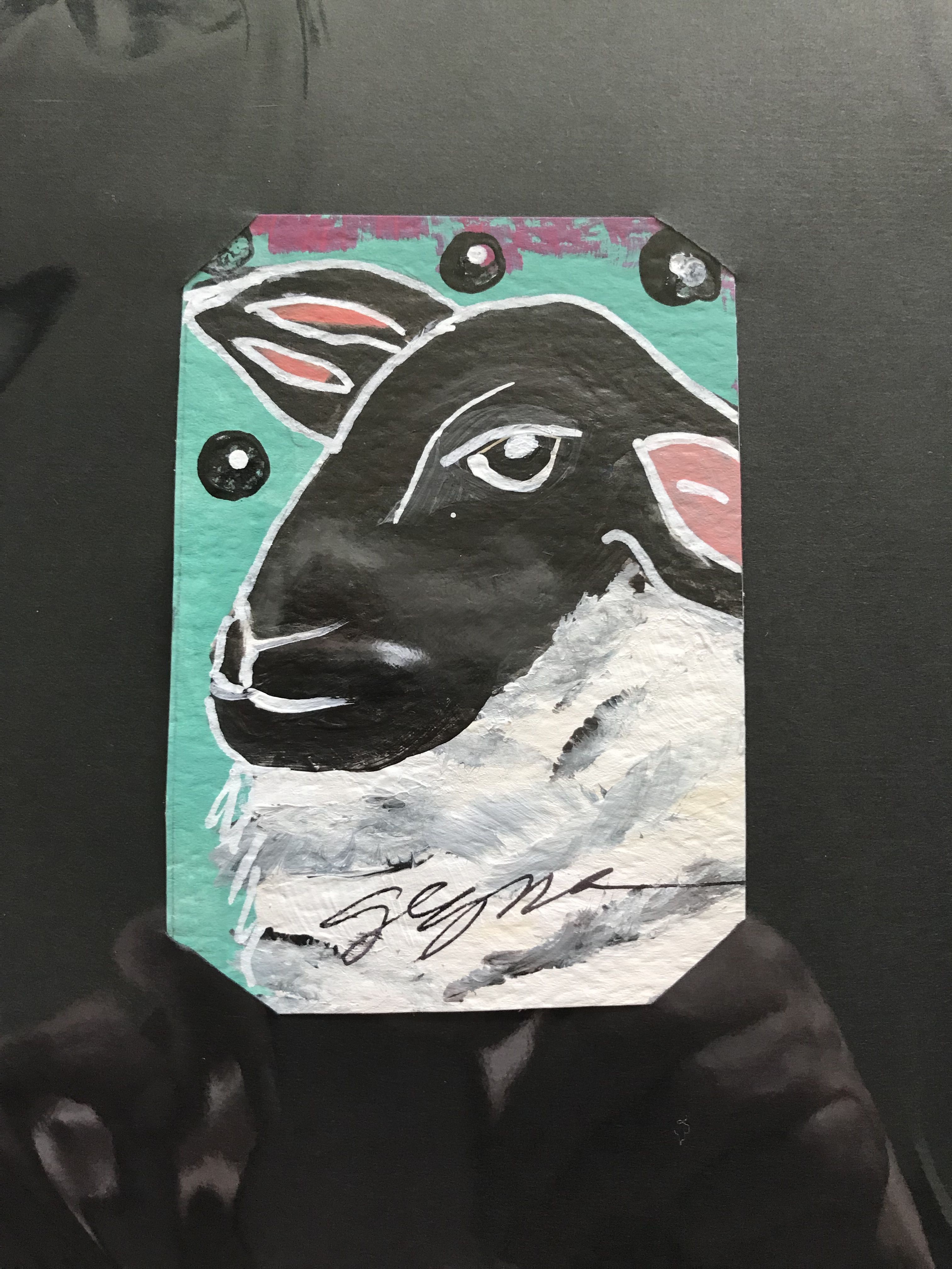 Pin By Artist Suzanne Gegna On Artist Trading Cards Black Faced Sheep Artist Trading Cards Folk Art