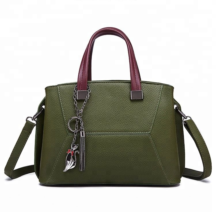 4b3fd2515eab Alibaba 2018 fashion trendy online shop china hot sale italy style PU  leather tote ladies bags
