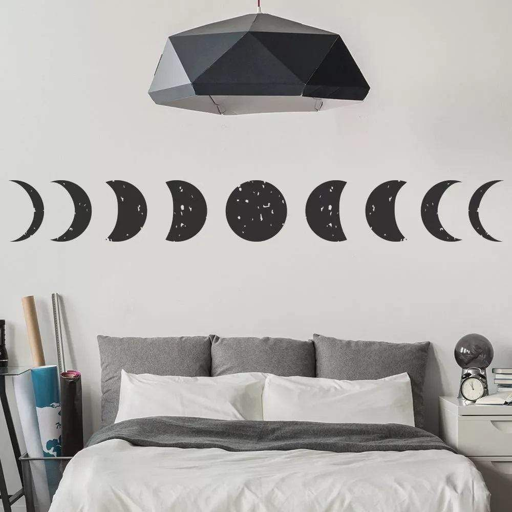 Gothic Moon Stickers - Black / 16x126cm