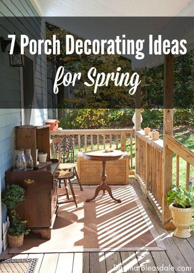 7 Porch Decorating Ideas for Spring. Dagmar's Home. DagmarBleasdale.com #porch #spring #decorating #home