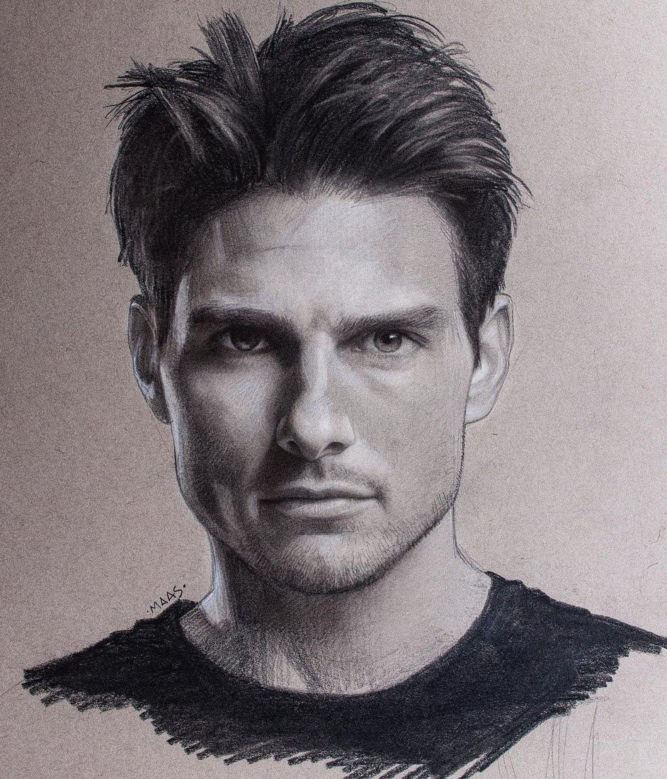 Pastel Charcoal and Graphite Celebrity Portraits 2