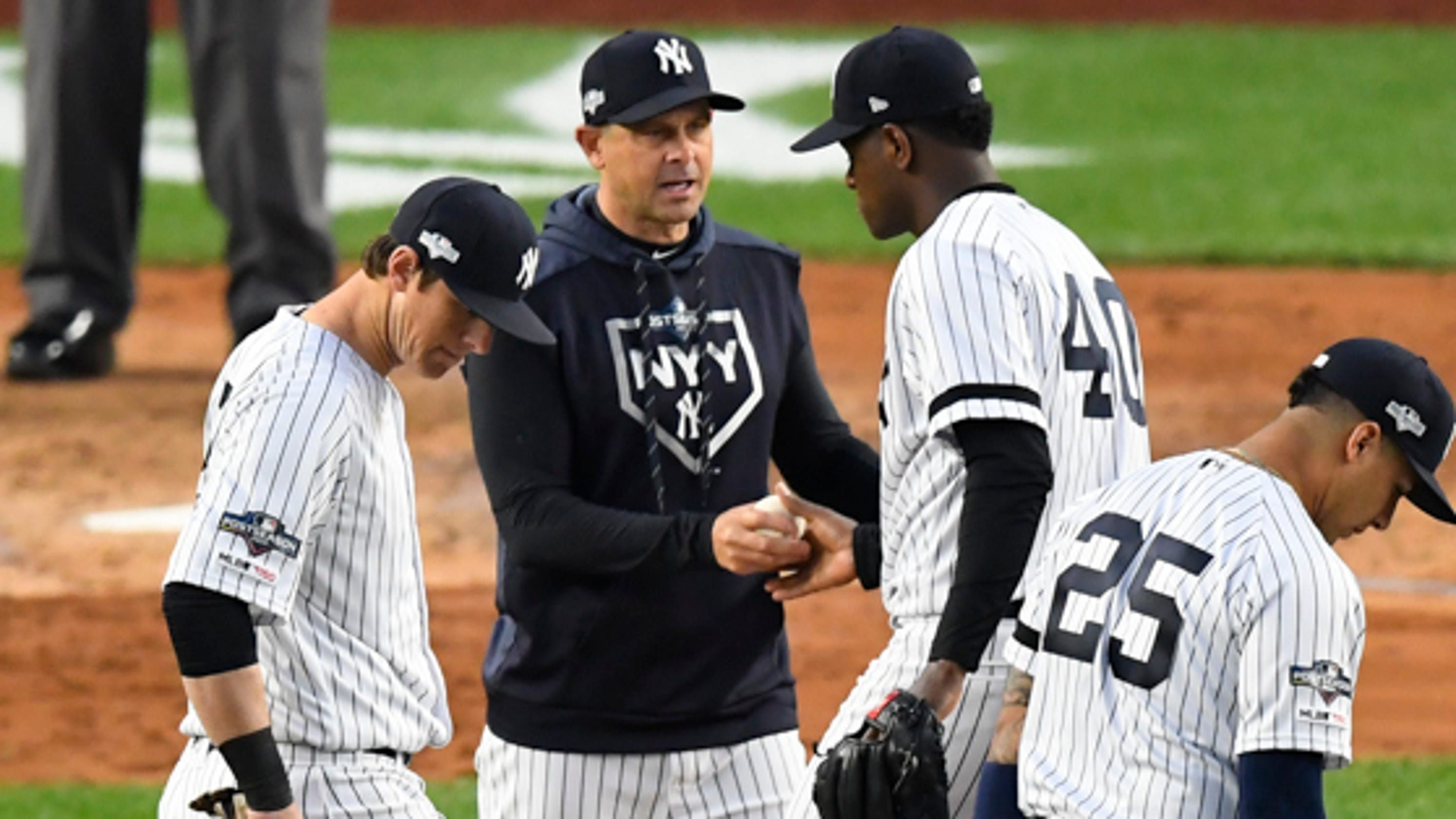 Mother Nature Deals A Body Blow To The Yankees World Series Hopes Yankees World Series Yankees Usa Today Sports