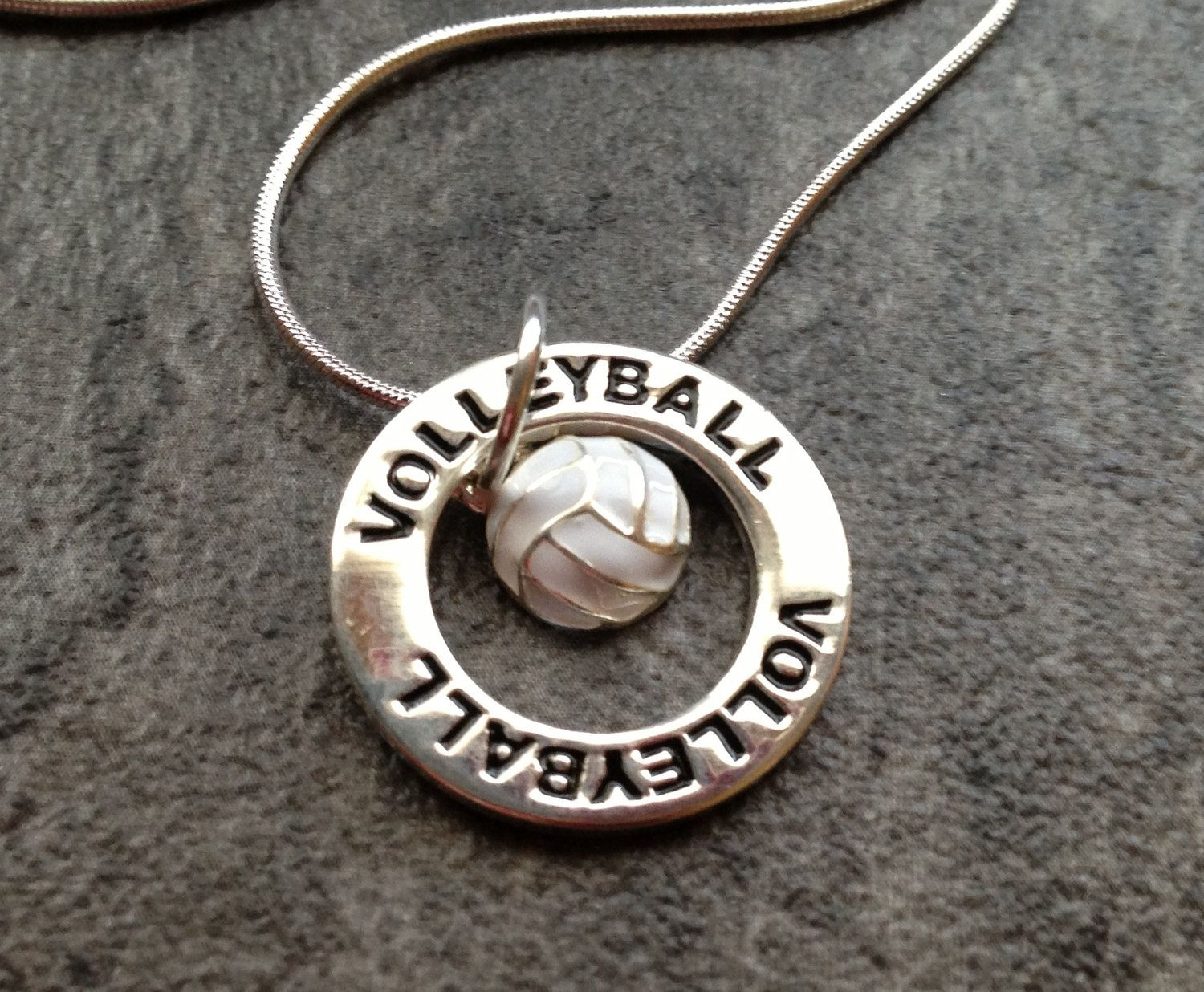 Volleyball Necklace Silver Volleyball Charm Necklace 15 00 Via Etsy Volleyball Necklace Silver Necklaces