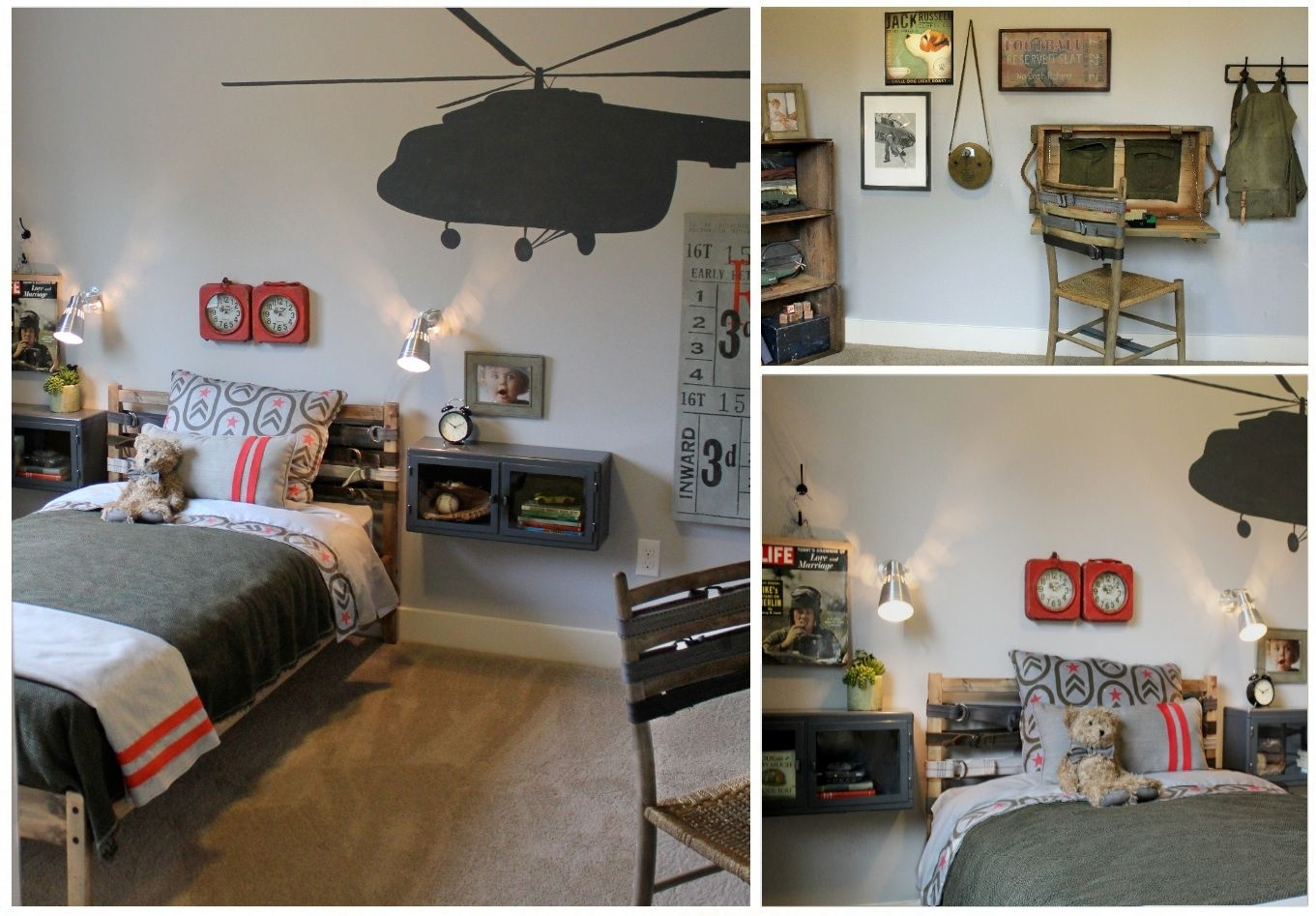 Pin By Danielle Erickson On My Design Work Boys Army Room Army Bedroom Military Bedroom