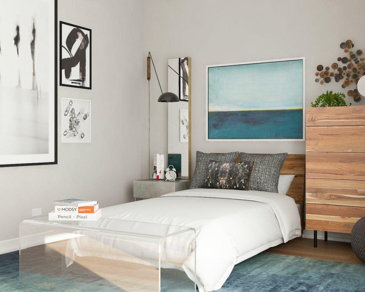 Akzente Aus Acrylglas Wie Diese Sitzbank Lassen Den Raum Grosser Wirken Schlafzimmer Einrichten Zimmer Einrichten Wohnen