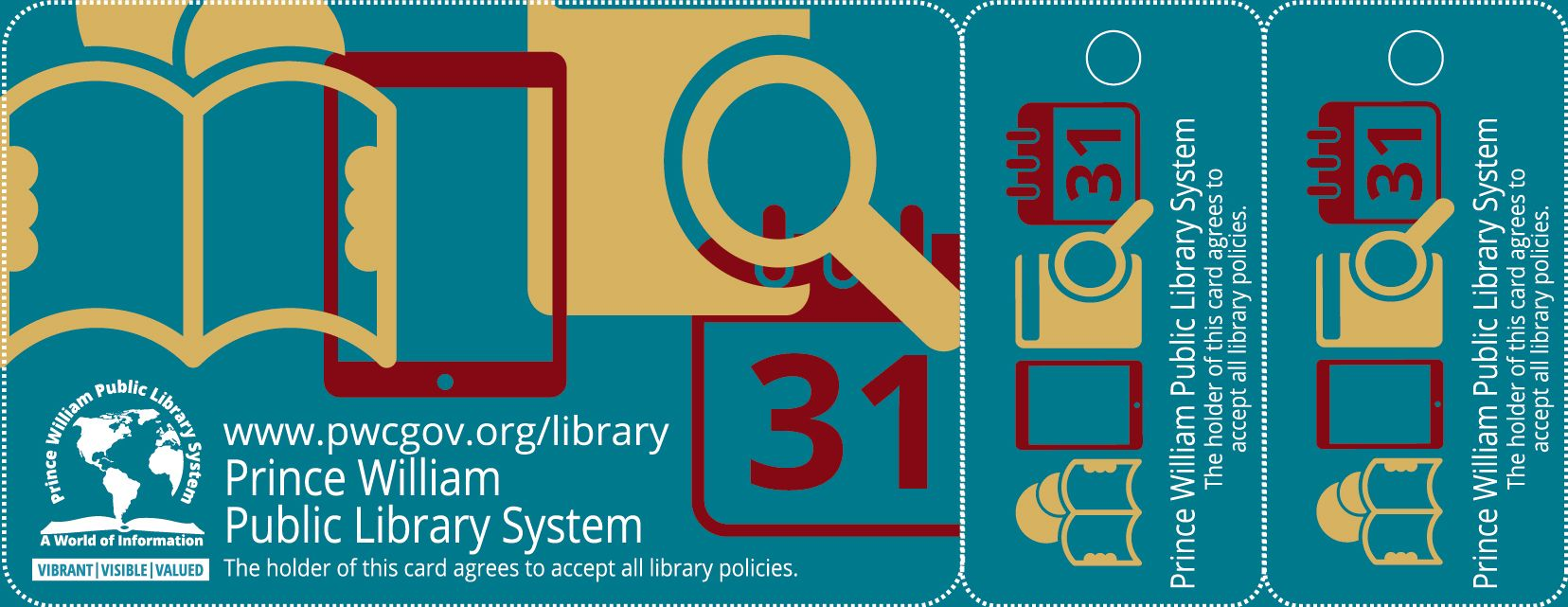 Library Graphic Design: New library card graphics