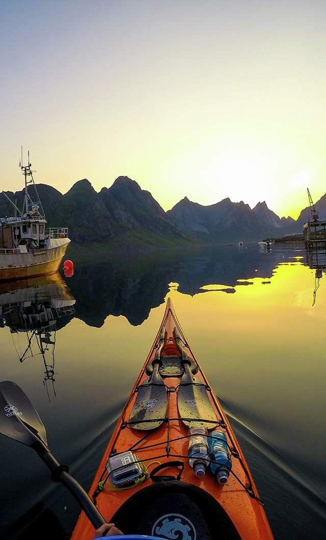 Photo of Kayaking under the midnight sun