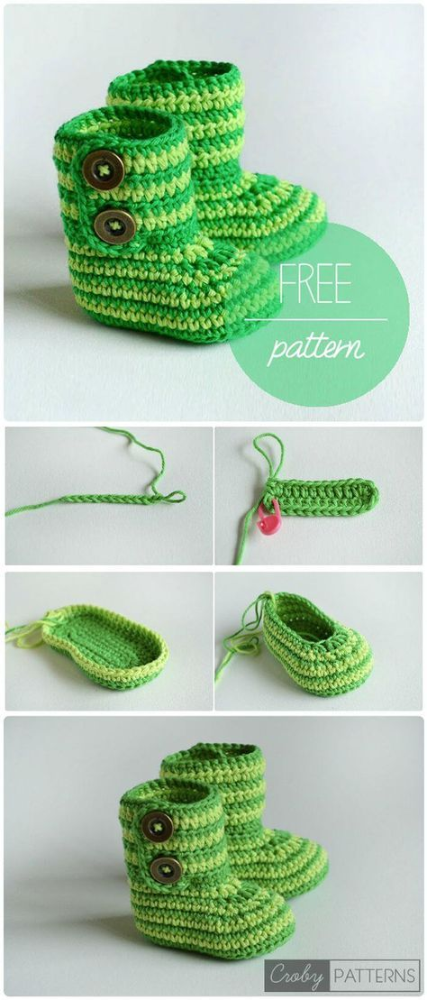 17 Free Crochet Baby Booties Pattern / Crochet Baby Shoes - Page 3 ...